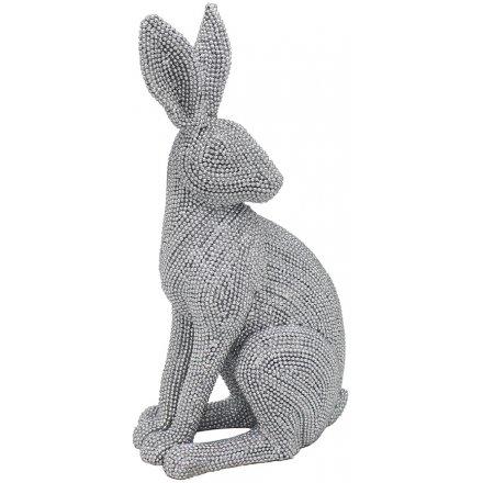 Diamonte Sitting Hare, 25cm