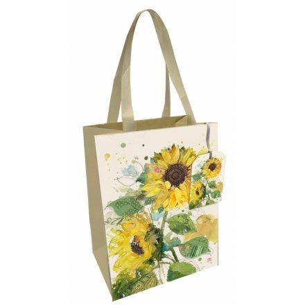 Large Sunflower Printed Gift Bag