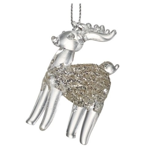 A Glittery Reindeer, perfect to bring the sparkle to your tree.