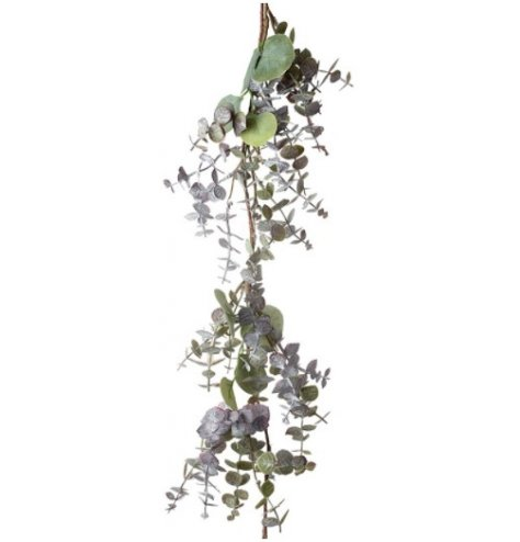 Natural toned eucalyptus garland branch