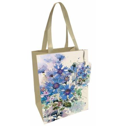 Medium Cornflower Printed Gift Bag