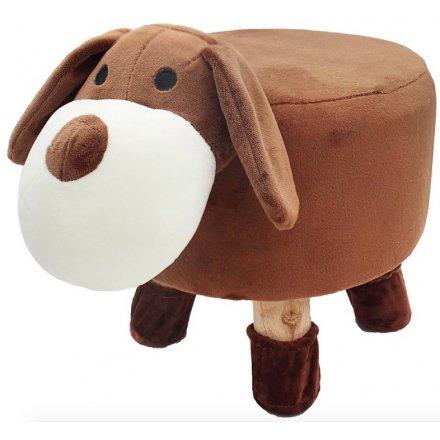 Brown Dog Stool, 29cm