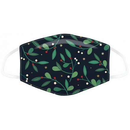 Mistletoe Reusable Adult Face Covering