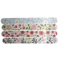 A mix of floral themed nail files from the charming Botanical Gardens Range