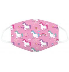 A fun and quirky Princess Unicorn themed face covering, sure to help any little one when out and about