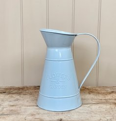 Sure to add a charming touch to your display of artificial blooms in the home, a sleek and simple grey toned metal jug