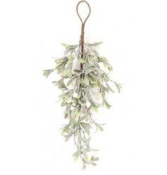 Snow Effect Hanging Mistletoe