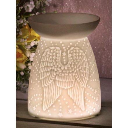 Ceramic Angel Wings Wax/Oil Burner