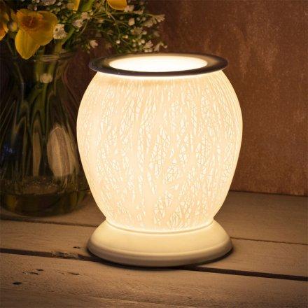 Ceramic Aroma Lamp, Woodland Trees