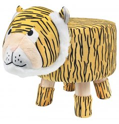An adorable little Tiger Themed Stool, a perfect little furniture piece to add to a play room or nursery