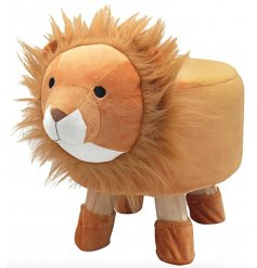 An adorable little Lion Themed Stool, a perfect little furniture piece to add to a play room or nursery