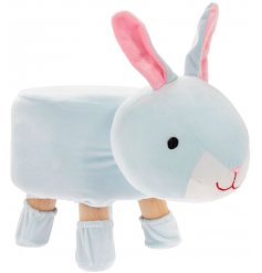 A large and plush busy bunny stool with added matching sockies to prevent floor scratches!