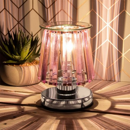 Silver Desire Aroma Lamp - Pink Opaque