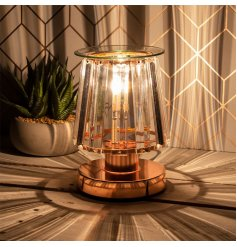 a stunning Glass Aroma Lamp with an opaque panel design