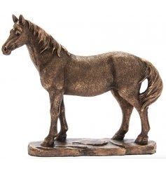 A stunning standing horse ornament from the Leonardo Bronzed Range