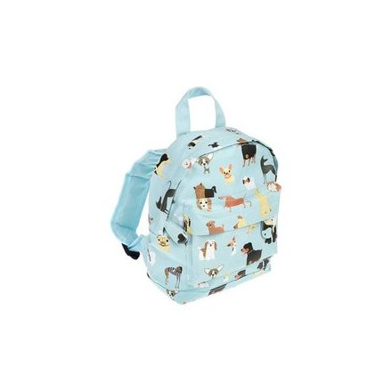 Dog Breed Print Illustrated Back Pack