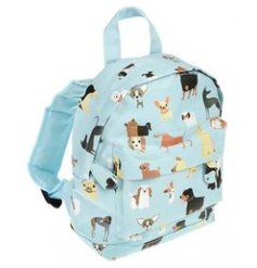 Covered in an array of fun themed dog breeds, this little fabric bag will be sure to keep little ones organised for sch