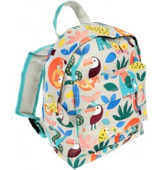 Covered in an array of fun themed animals, this little fabric bag will be sure to keep little ones organised for school