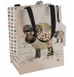 Part of the whimsical Bug Art Range, a printed gift bag with vibrant colours and quirky charm