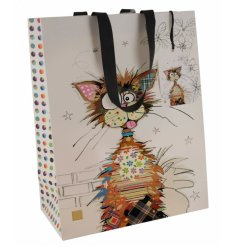 A quirky and colourful themed gift bag with a Krazy Kat inspired decal from the Bug Art Range