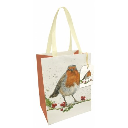 Winter Robin Gift Bag, Medium