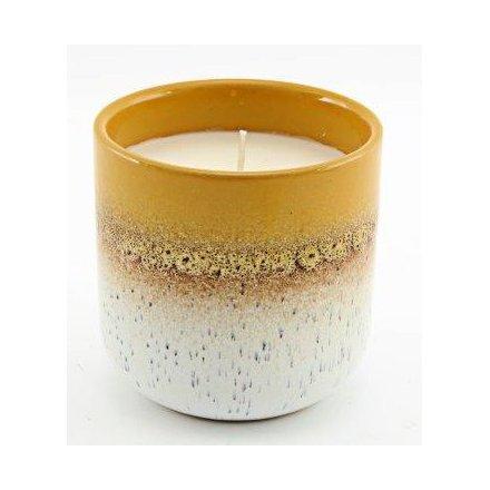 Speckle Glaze Candle Pot, 9.5cm