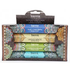 Each set of 14 incense sticks feature its own charming colour packaging and filled with delightful fragrances sure to f