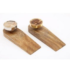 Assorted by their Tree of Life Decals, these sleek and simple wooden door stops are sure to bring a charmingly rustic fe