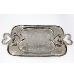 An assorted sized set of Aluminium Trays, perfectly set with sweetheart shaped handles