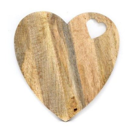 Heart Shaped Chopping Board, 40cm