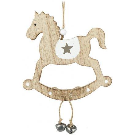 Rocking Horse Hanging Decoration, 24cm