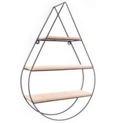 Droplet Black Wire Shelf Unit, 62cm   Sure to add an ontrend touch to any wall space, a simplistic 3 tiered shelving uni