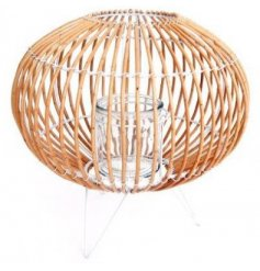 This lantern is made from bent Willow, and will be sure to bring a trendy charm to any home space