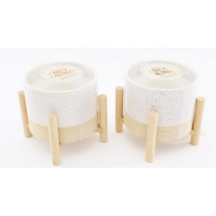 Simple Living Candles On Stands, 13cm
