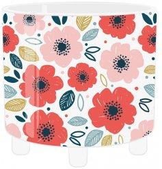 A pretty poppy patterned ceramic planter set upon 3 legs