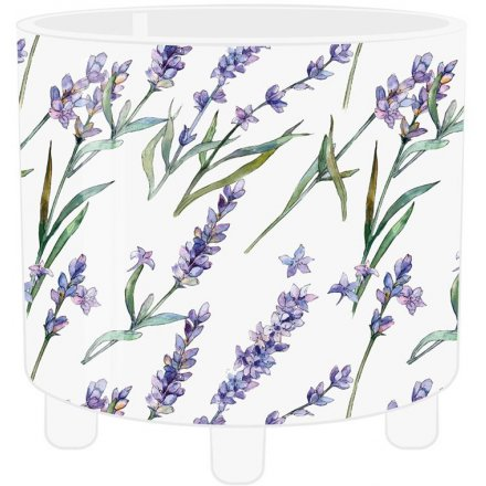 Purple Lavender Printed Planter, Large