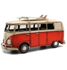 A vintage inspired volkswagen camper van ornament, a great gift idea for any collector
