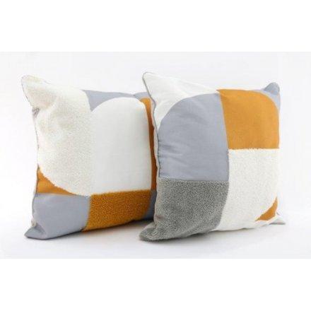 Colour Block Abstract Cushions, 40cm