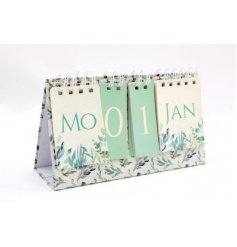 Perfect for keeping track of your days, a beautifully designed flip calendar from the Olive Grove range