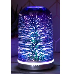 a brightly illuminated Desire Aroma Humidifier lamp covered with a 3D Starburst decal