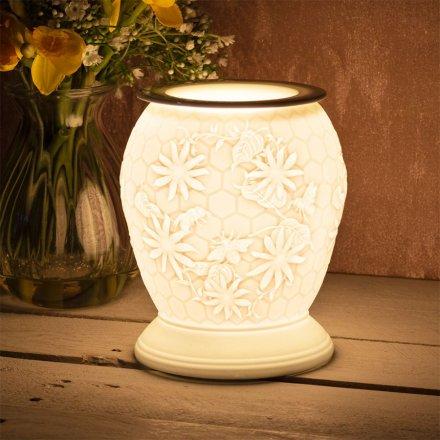 Ceramic Aroma Lamp, Honeycomb