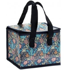 Part of a charming new range of gift and homewares, this quirky zip up lunch bag features a beautiful floral decal