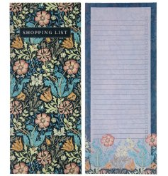 A deep toned floral memo list book set with added hues and lined pages for list making