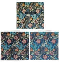 An assortment of deep tone floral notecards with a delightful decal to each