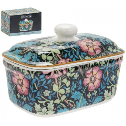 Compton Print China Butter Dish