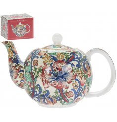 this sleek china Tea Pot will be sure to add a Whimsical inspired feature to any kitchen side space!