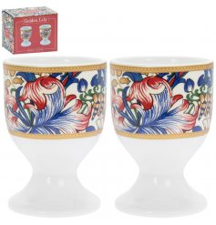 this sleek set of giftboxed egg cups will be sure to add a Whimsical inspired feature to any kitchen side space!