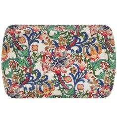 this sleek floral themed serving tray will be sure to add a Whimsical inspired feature to any kitchen side space!