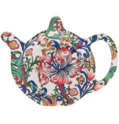 his sleek floral themed Teabag Tidy will be sure to add a Whimsical inspired feature to any kitchen side space!