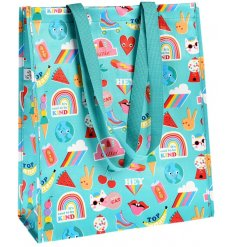 Sure to bring a brightly coloured feature to your shopping trips, a quirky printed shopping bag with strong handles and